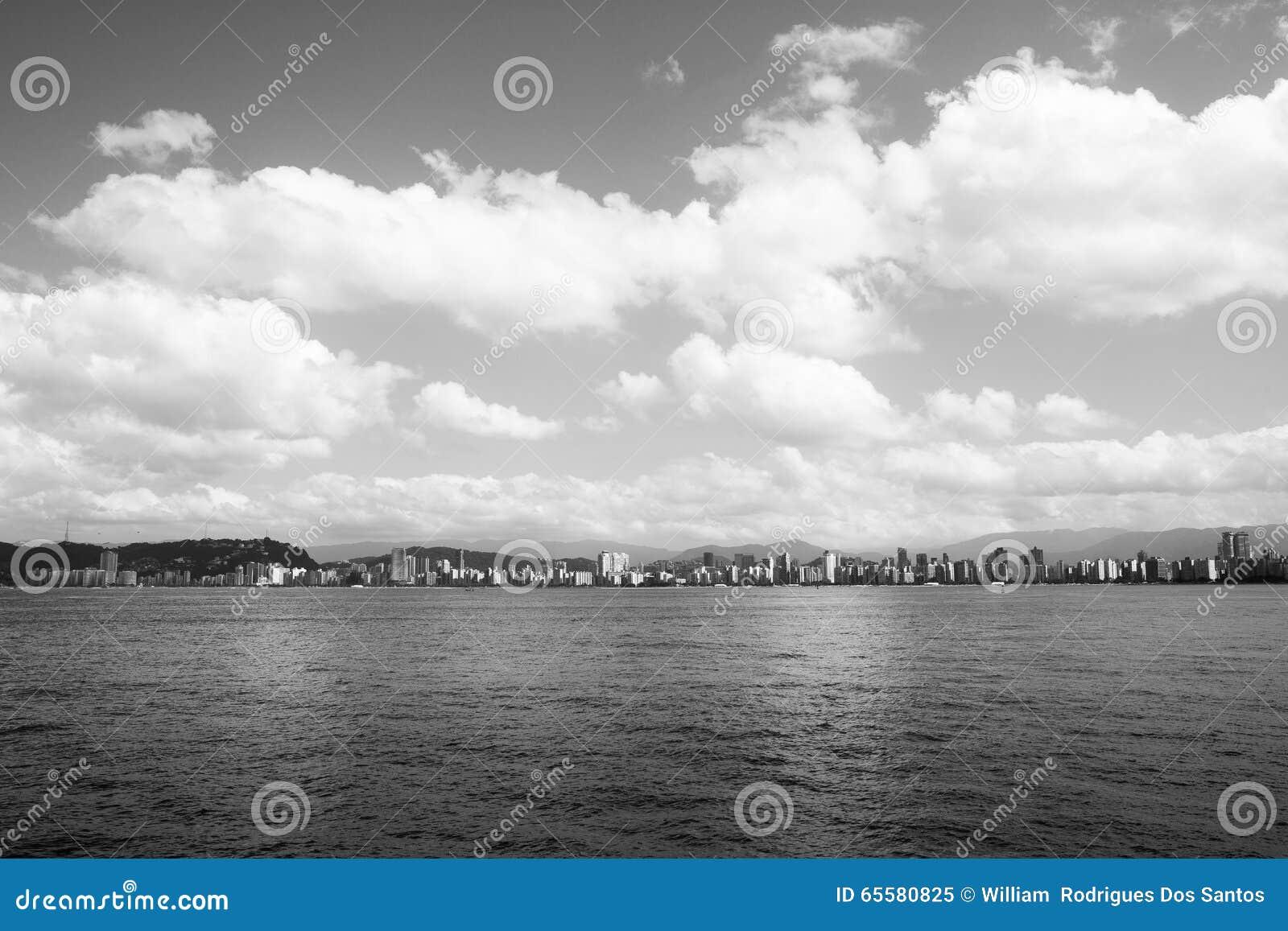 Vista geral de Santos