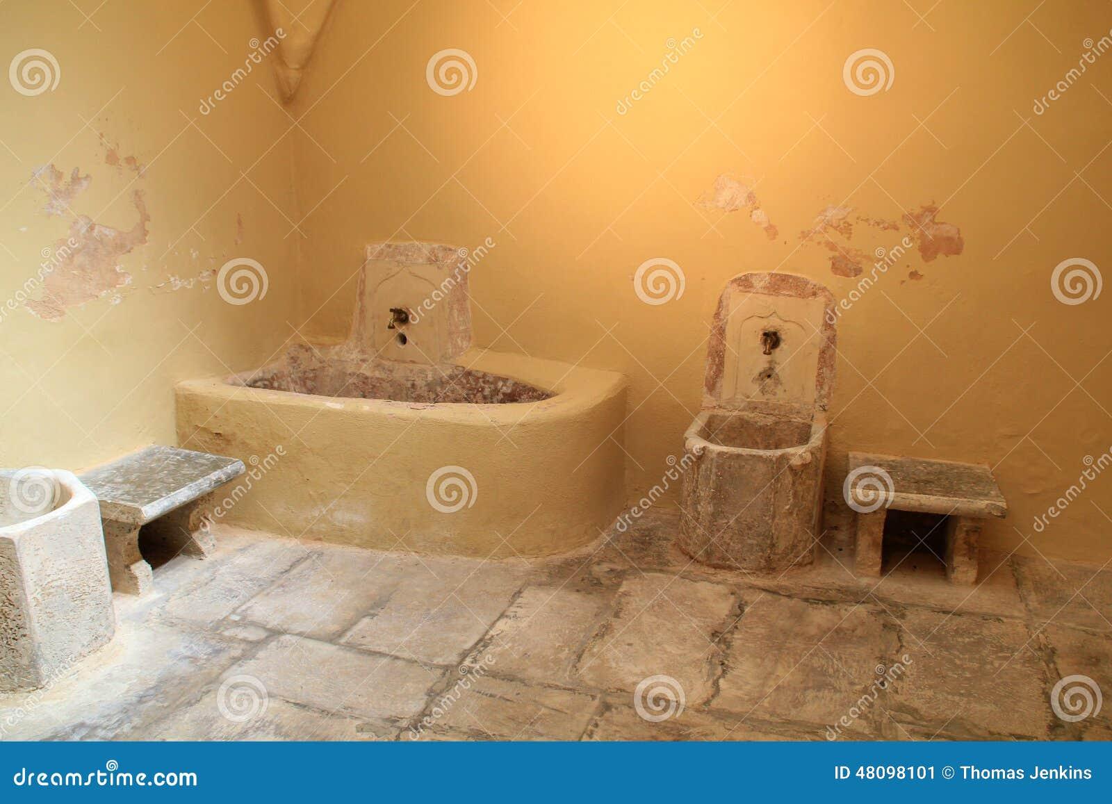 Vista Interior De La Casa De Baños Turca Del Otomano En La ...