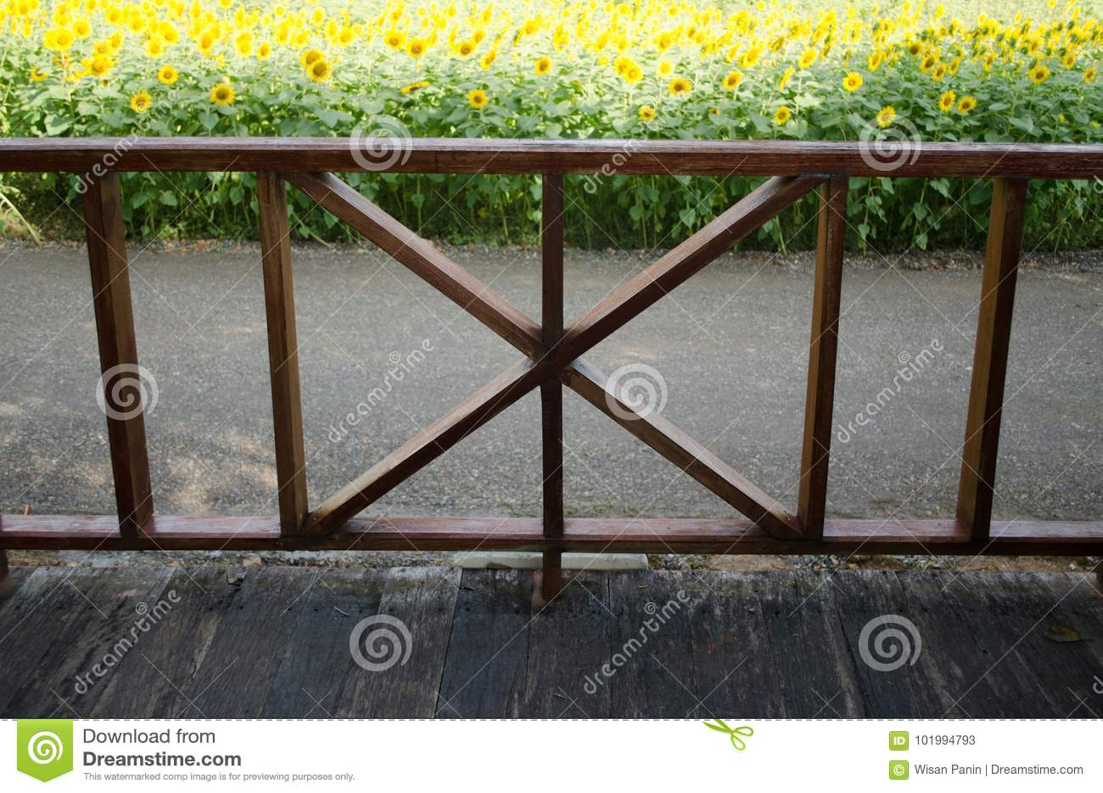 A vista interna considera a Front Porch, flor de Sun