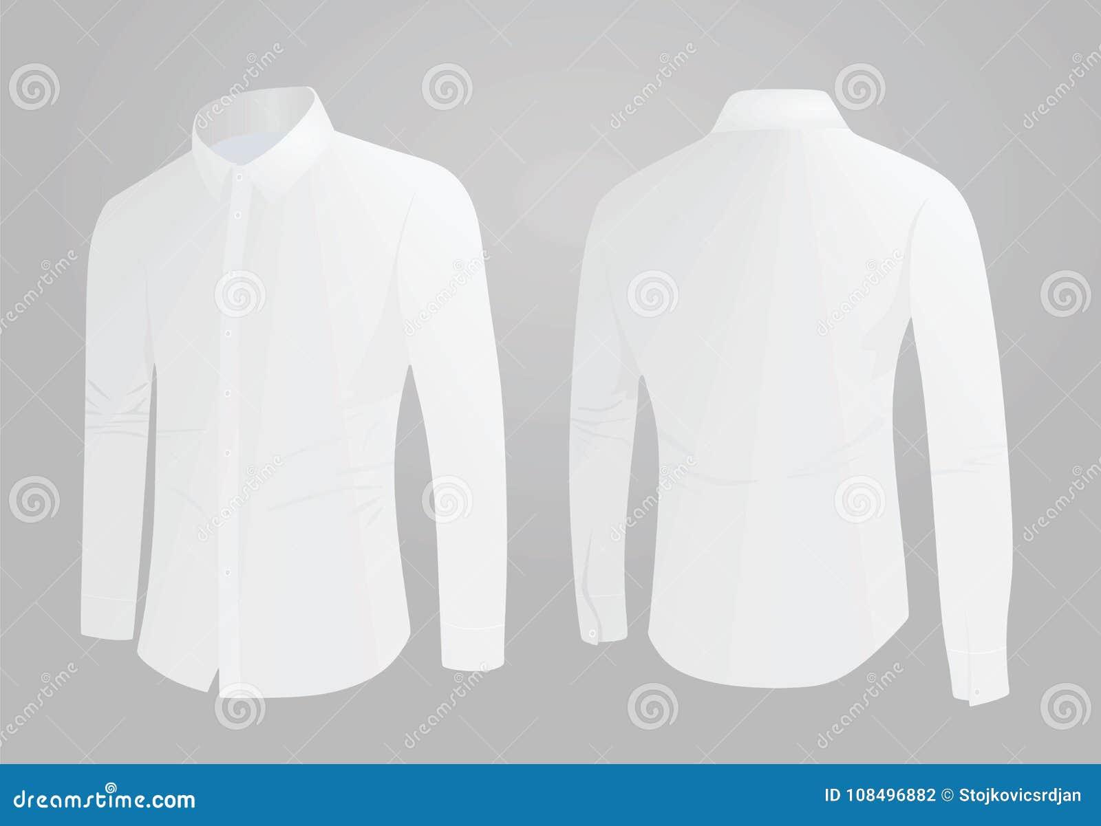 Vista Lateral De La Camisa Blanca Ilustración del Vector