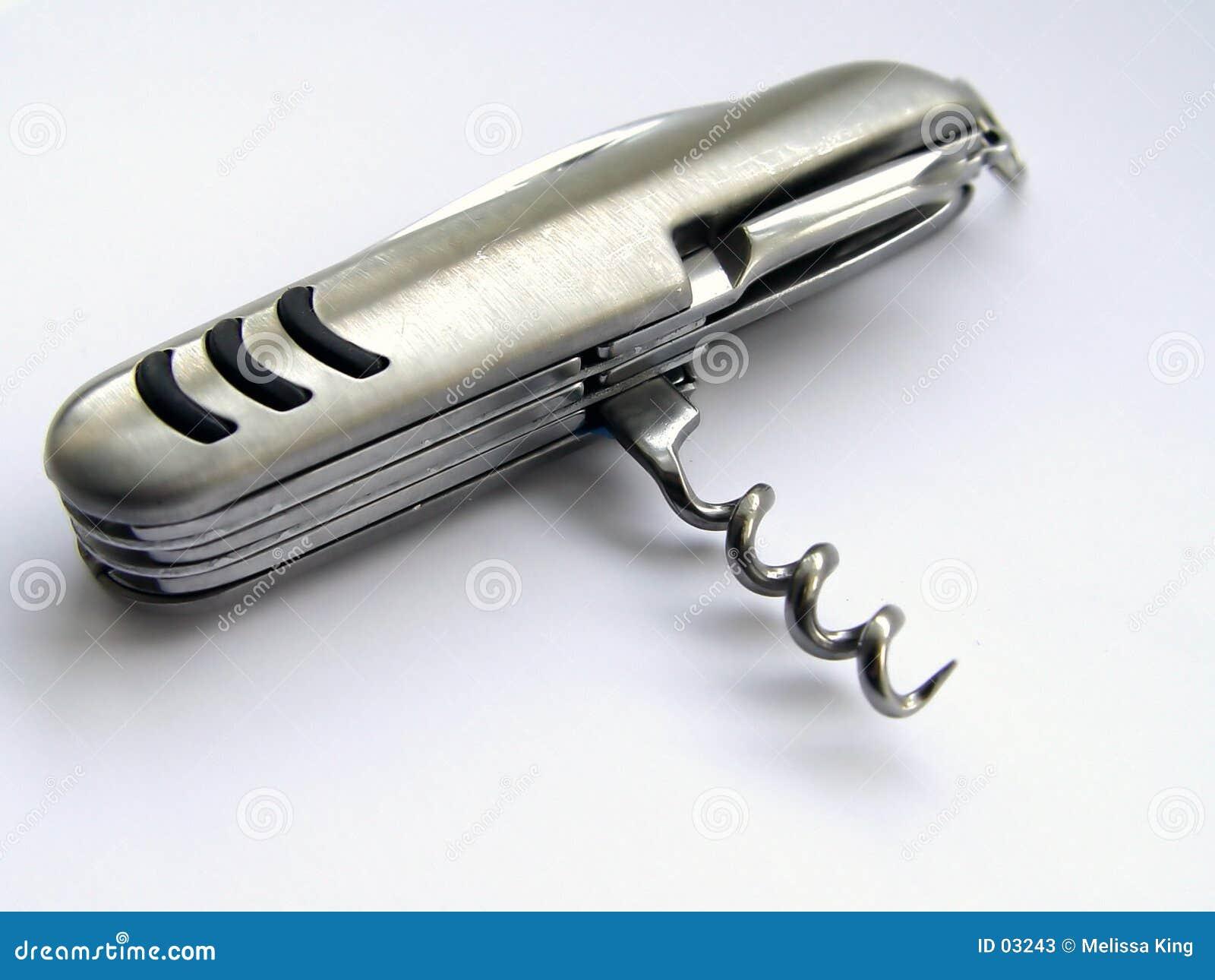 Vista lateral del cuchillo de bolsillo