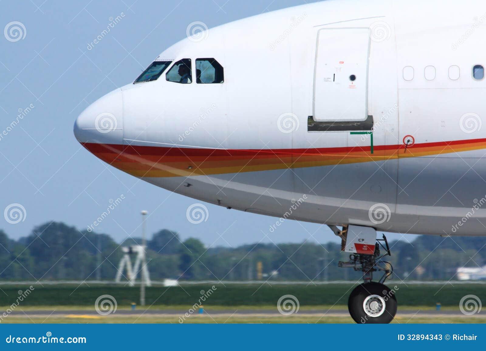 Vista laterale della cabina di pilotaggio dell 39 aereo di for Animali domestici della cabina di nashville