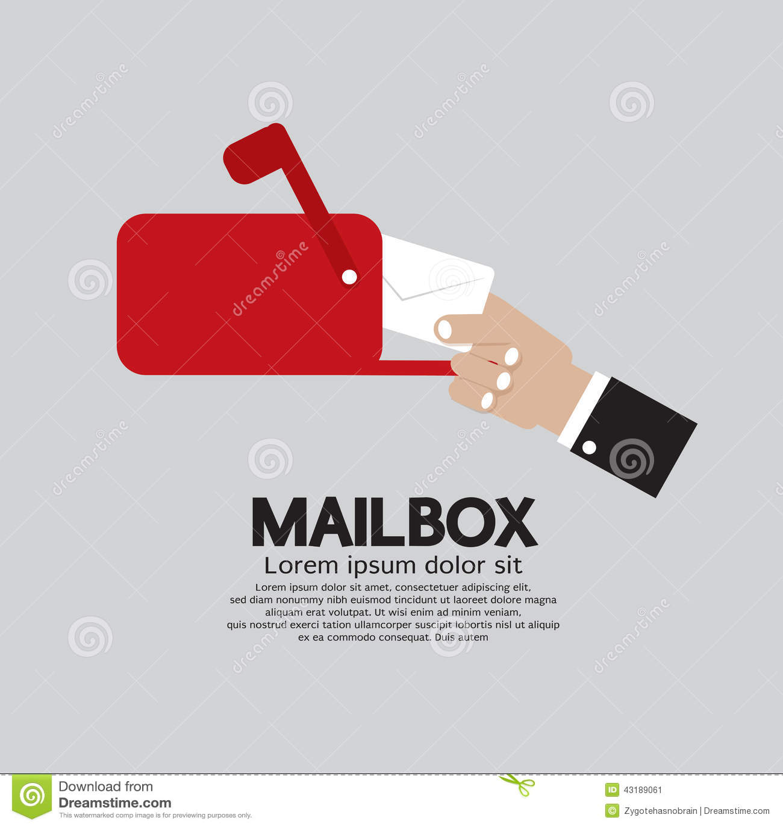Vista laterale della cassetta delle lettere