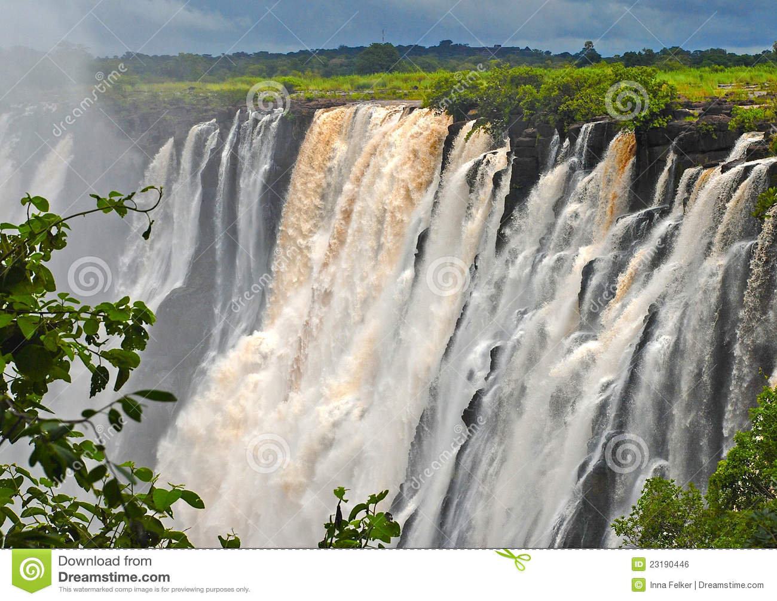 Vista majestosa com Victoria Falls (África do Sul)