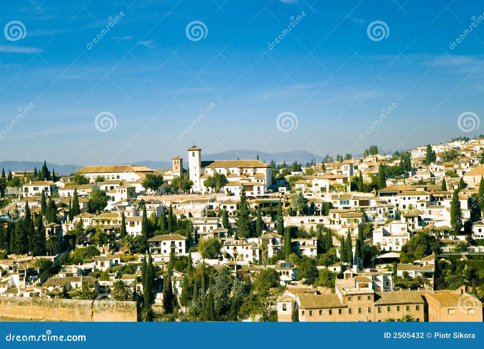Vista na cidade velha de Granada