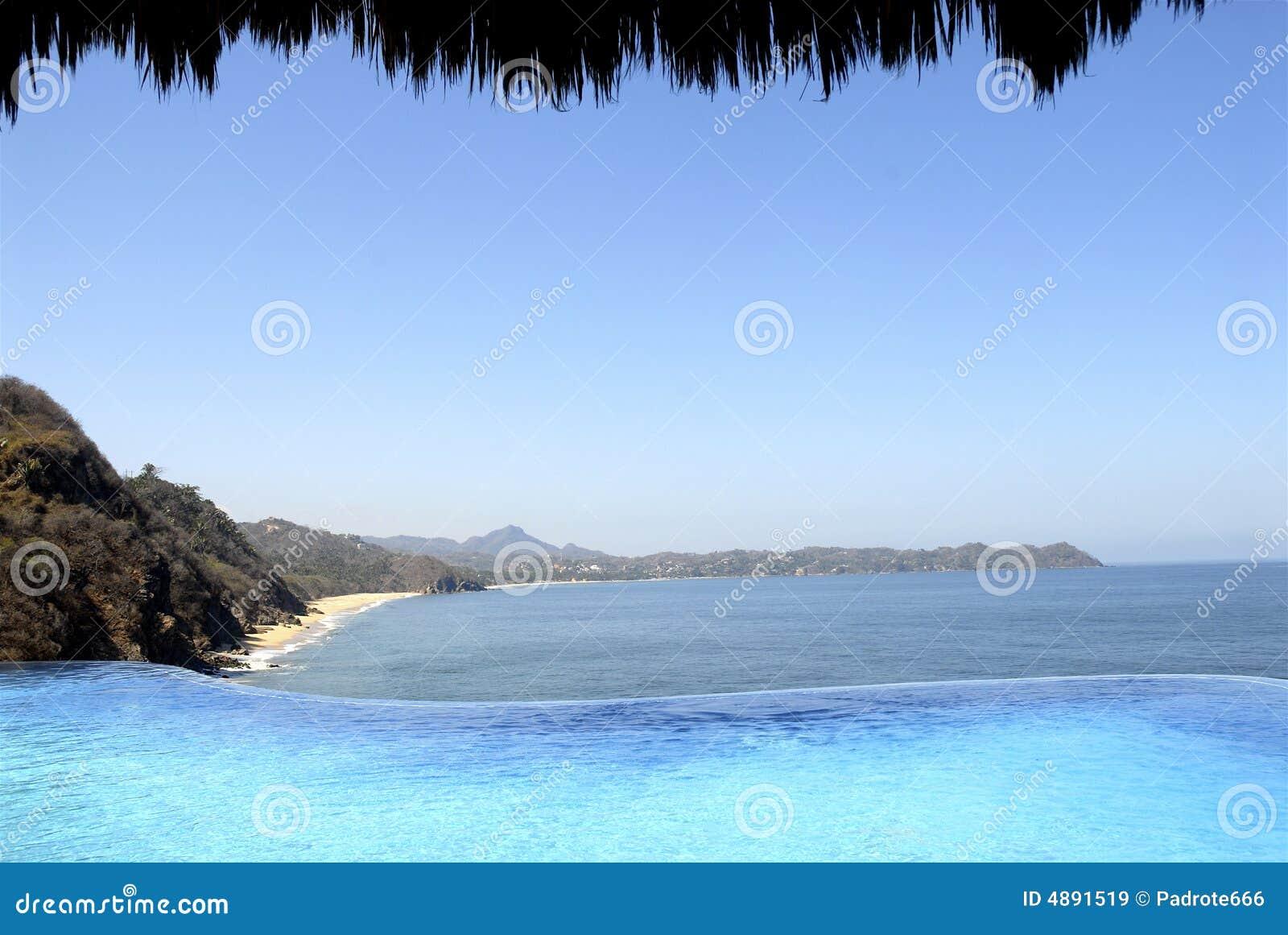 Vista pacifica messicana della spiaggia