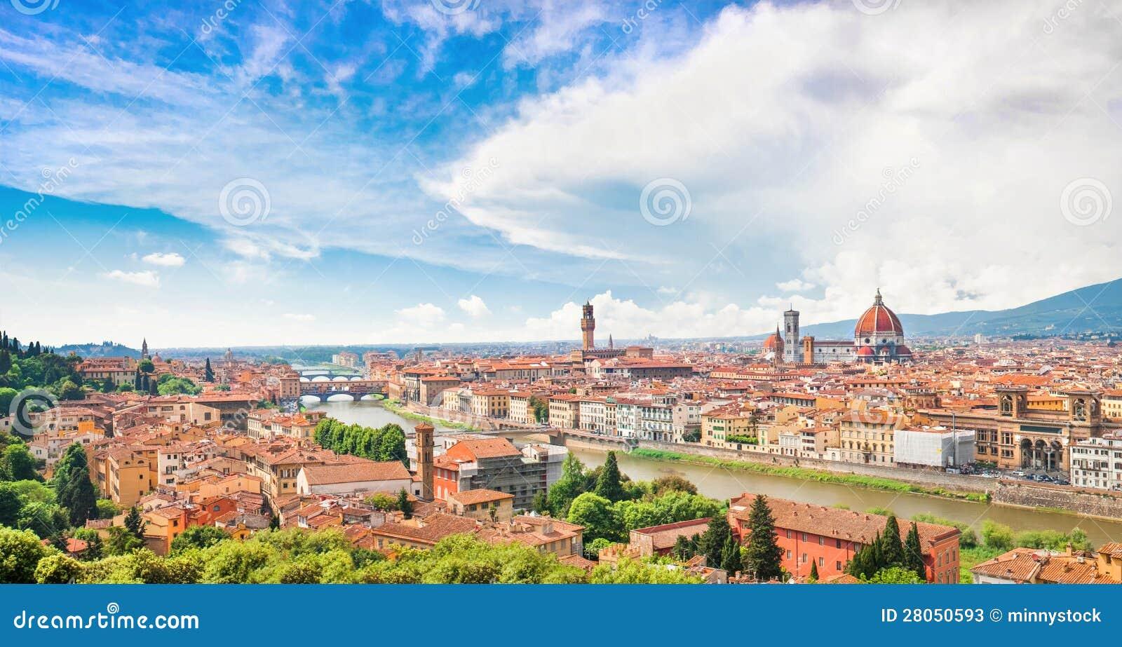 Vista panorámica de Florencia, Italia