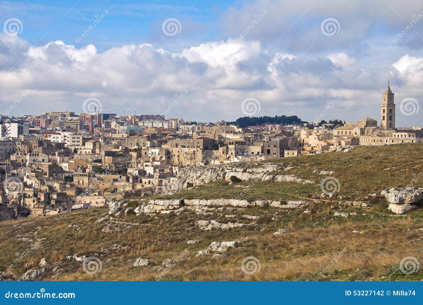 Vista panorámica de Matera Basilicata Italia