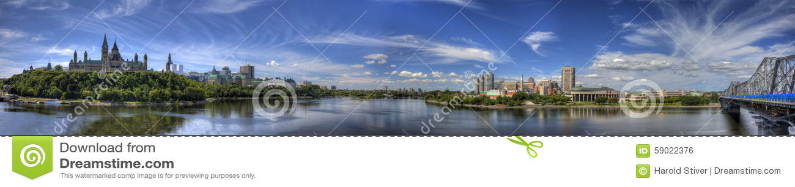 Vista panorámica de Ottawa, Canadá