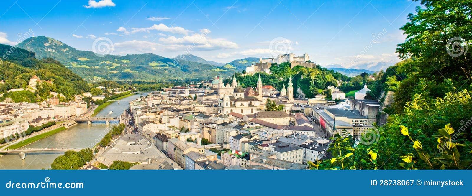 Vista panorámica de Salzburg, Austria