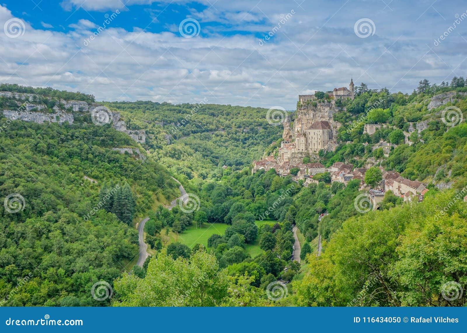 Vista panorámica del pueblo de Rocamadour