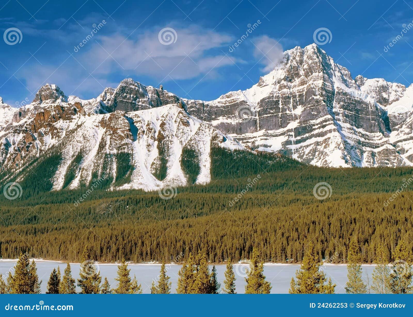 Vista panorámica a las montañas canadienses de Rockies