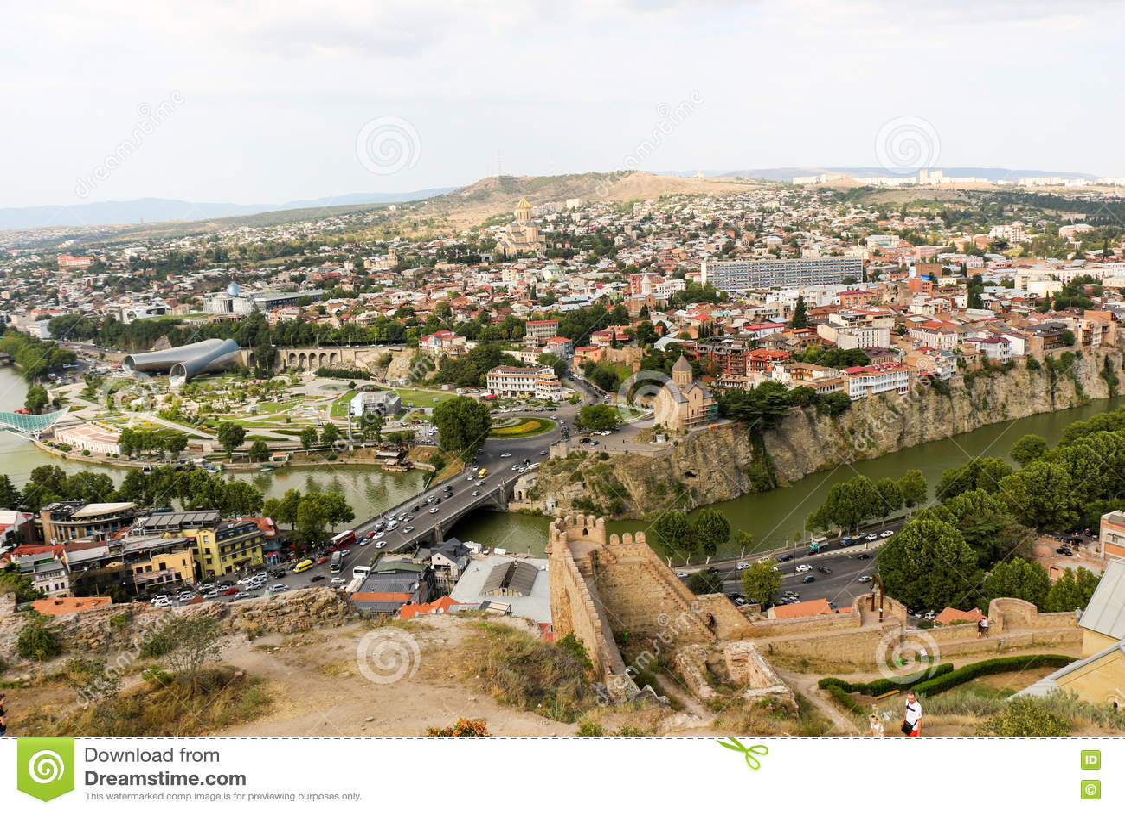 Vista panorâmica bonita de Tbilisi
