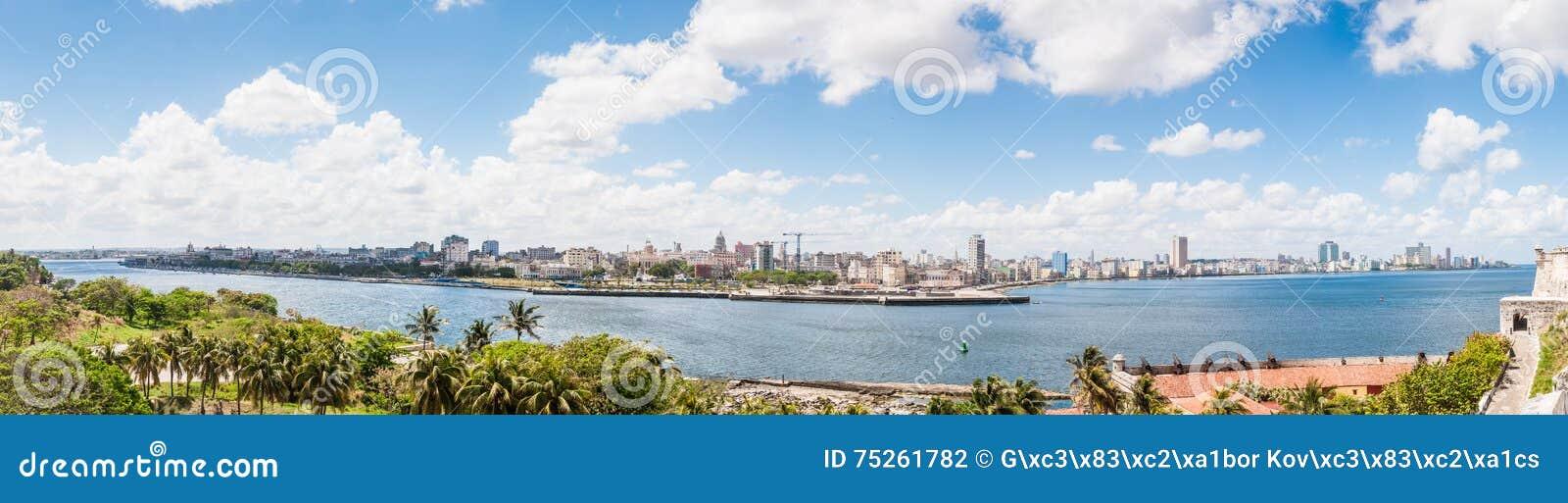 Vista panorâmica da arquitetura da cidade em Havana, Cuba