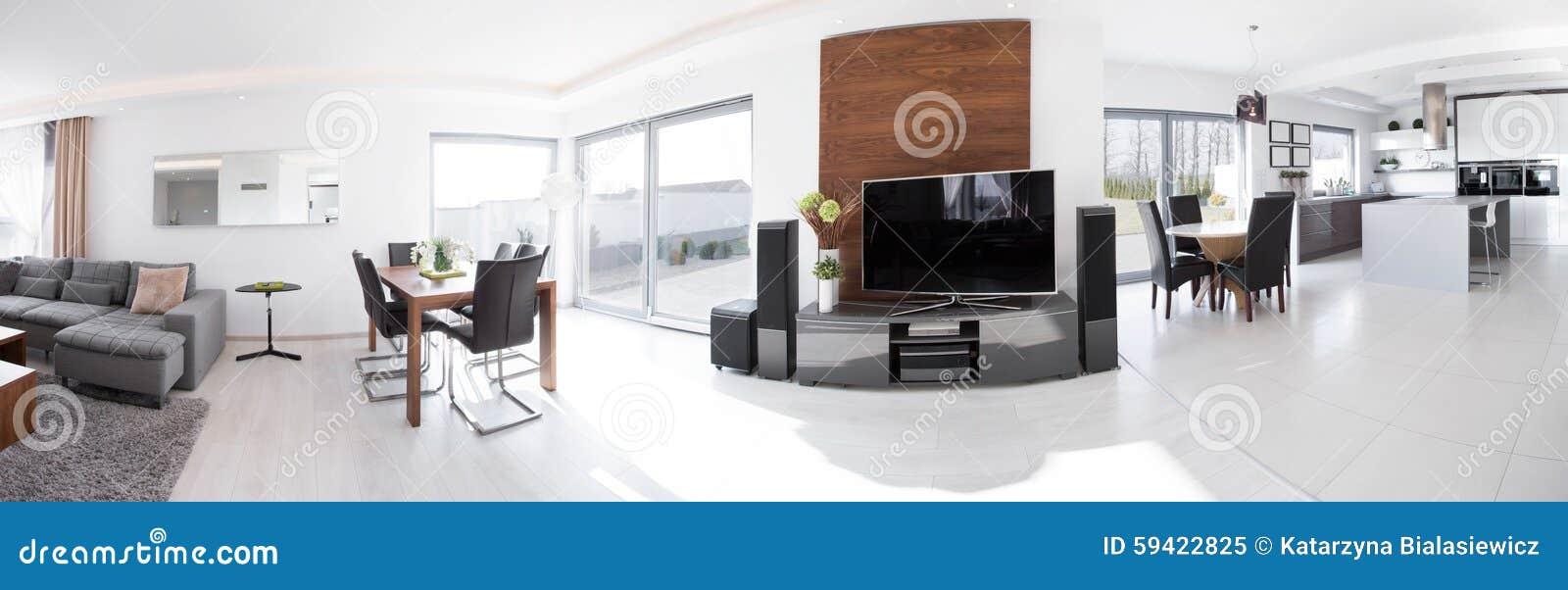 Vista panorâmica da casa moderna