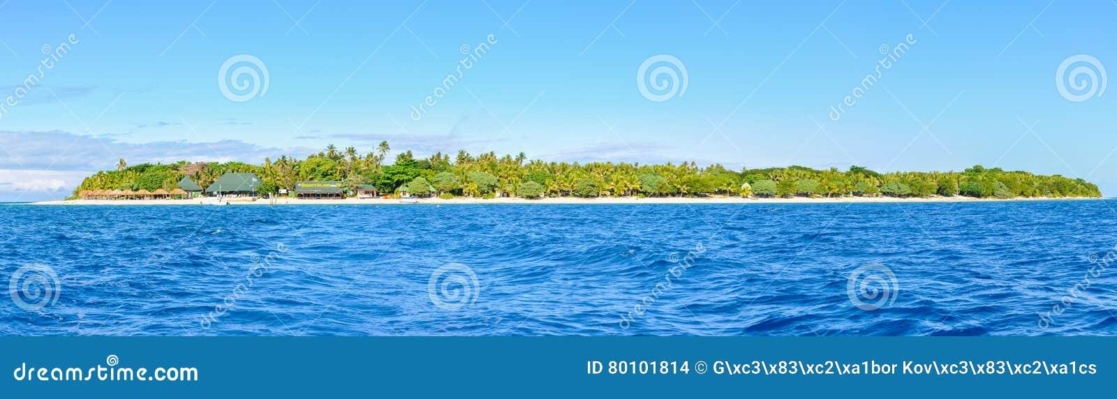 Vista panorâmica da ilha da recompensa em Fiji