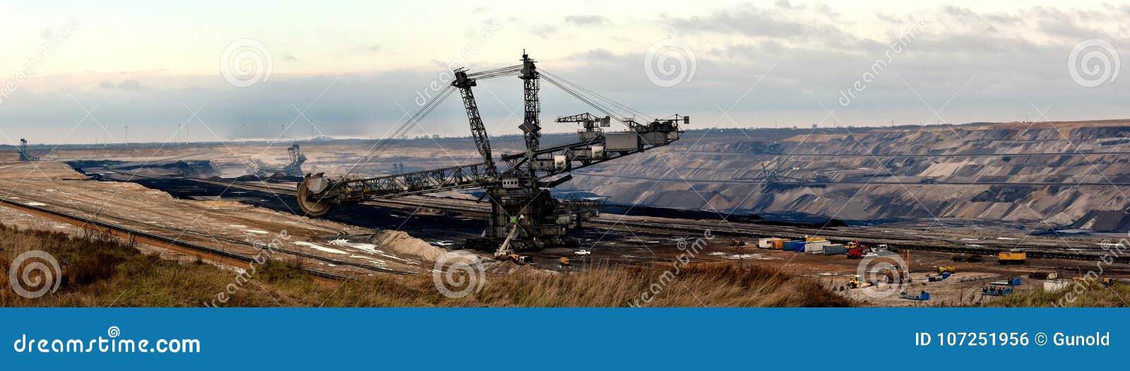 Vista panorâmica da mineração opencast em minha vizinhança