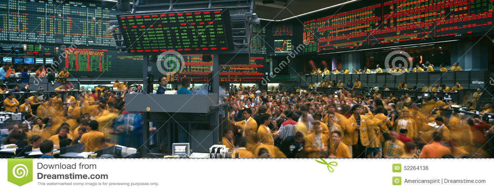 Vista panorâmica da troca de Chicago Mercantile