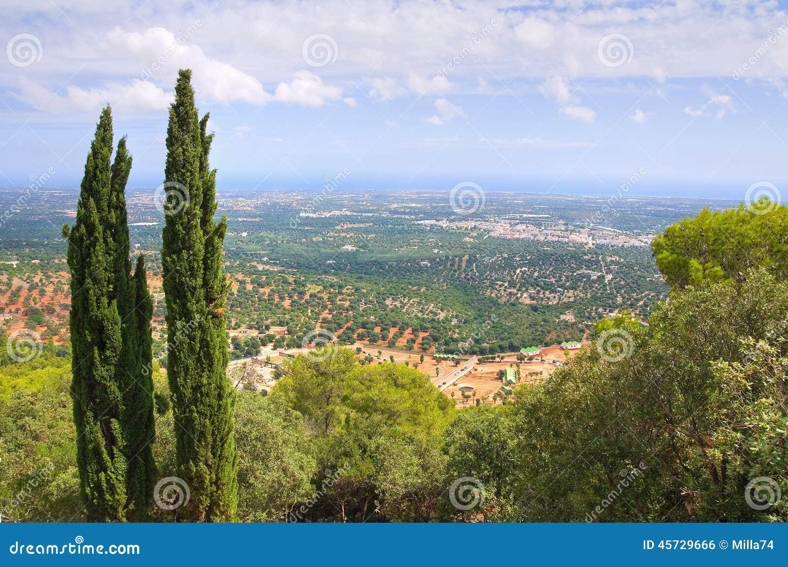 Vista panorâmica de Fasano Puglia Italy