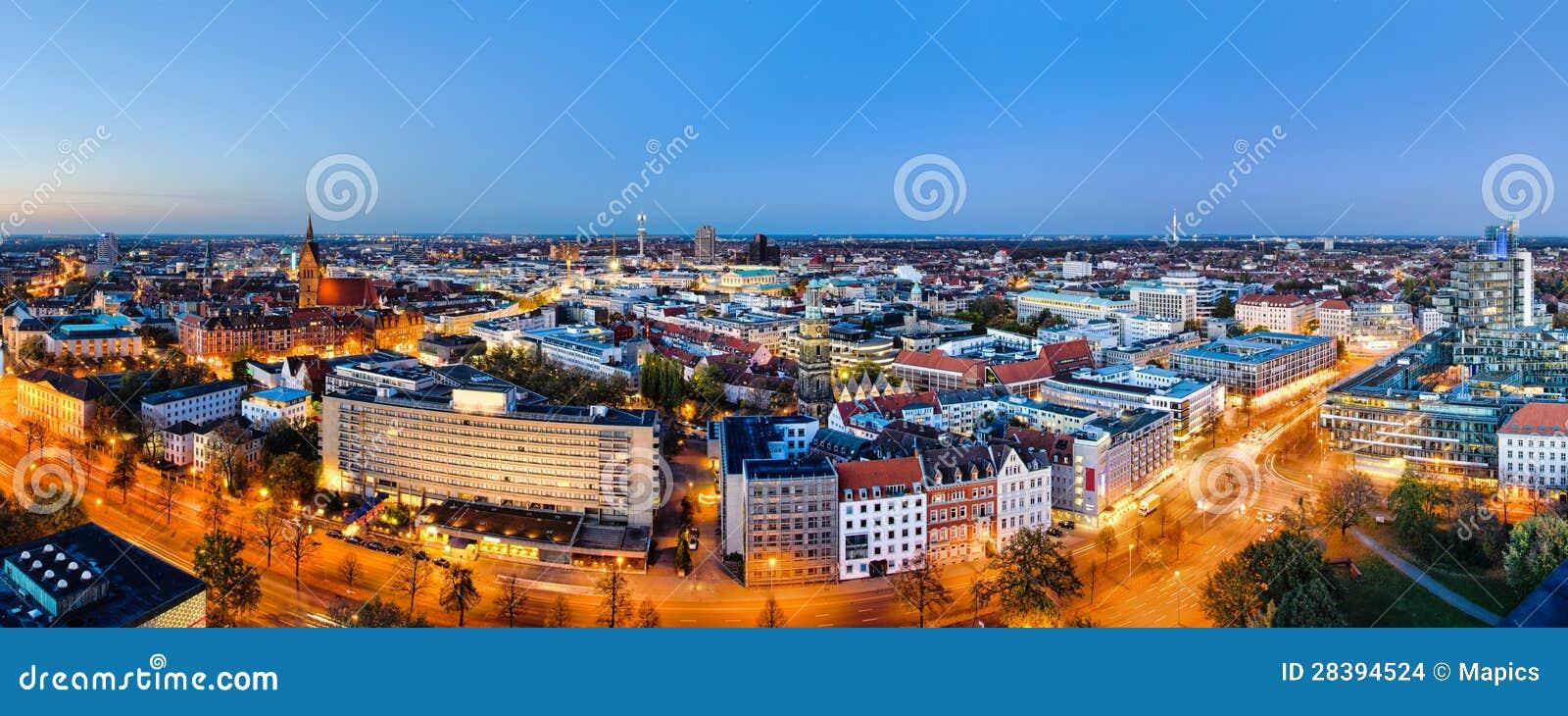 Vista panorâmica de Hannover, Alemanha