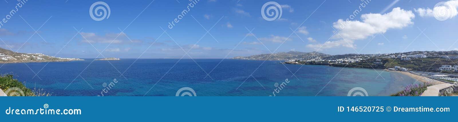 Vista panorâmica de Mikonos Grécia