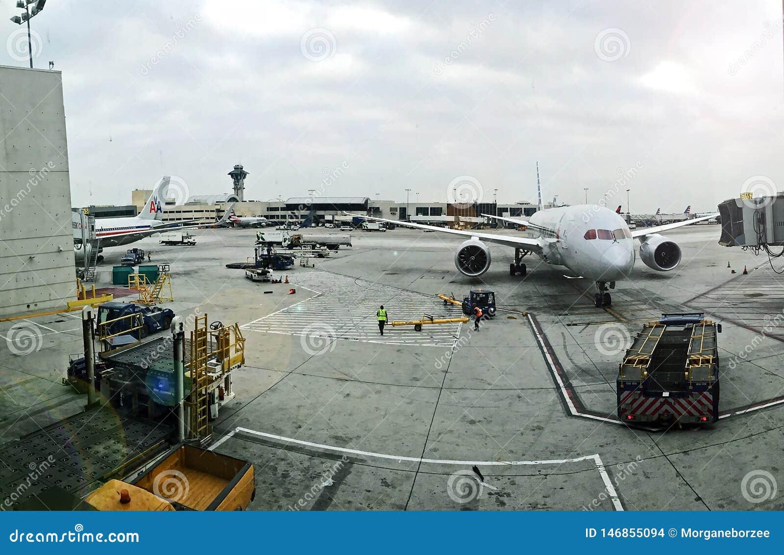 Vista panorâmica do aeroporto de Jorge Chavez em Callao