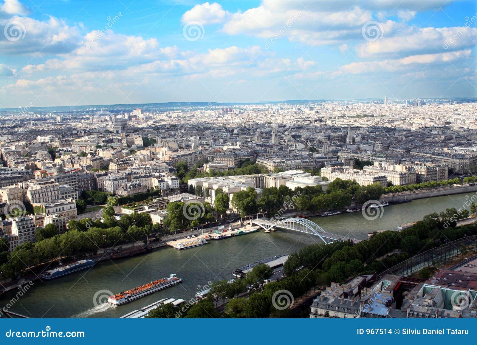 Vista panorâmico da cidade de Paris, France