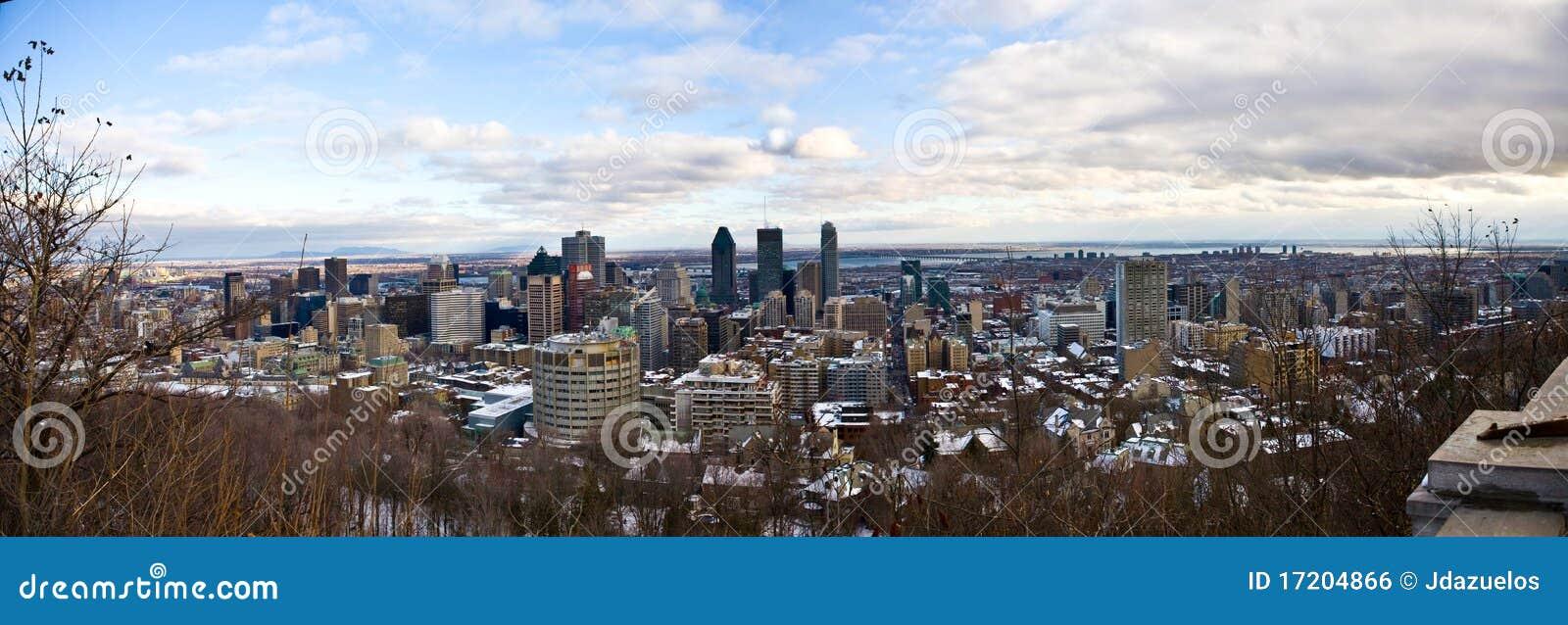 Vista panorâmico de Montreal da baixa