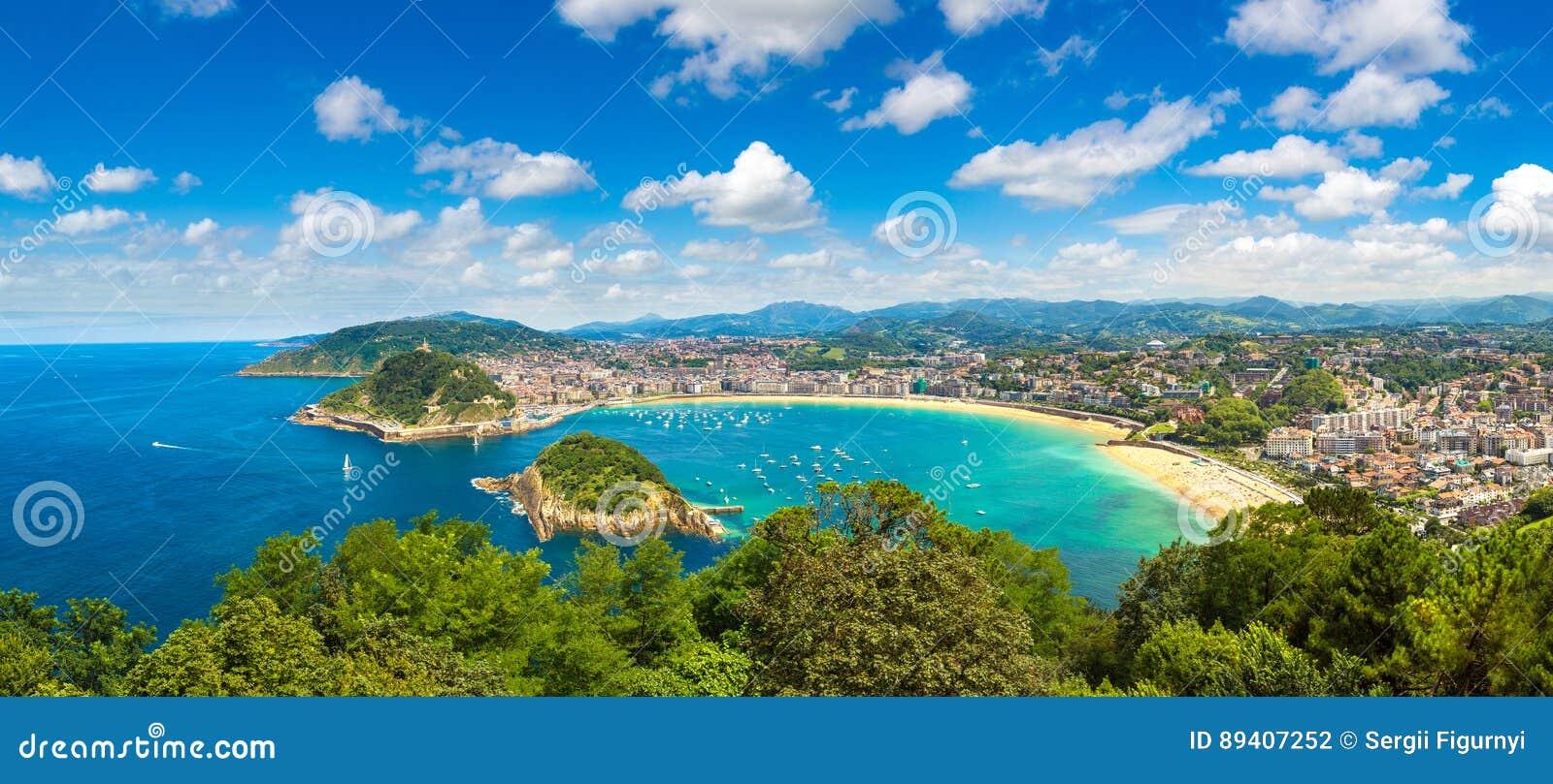 Vista panorâmico de San Sebastian
