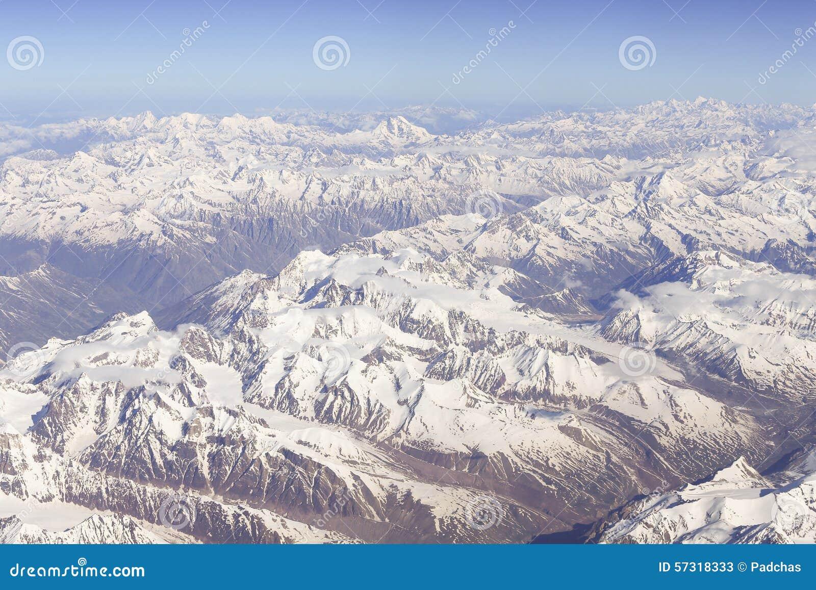 Vista panoramica dell Himalaya