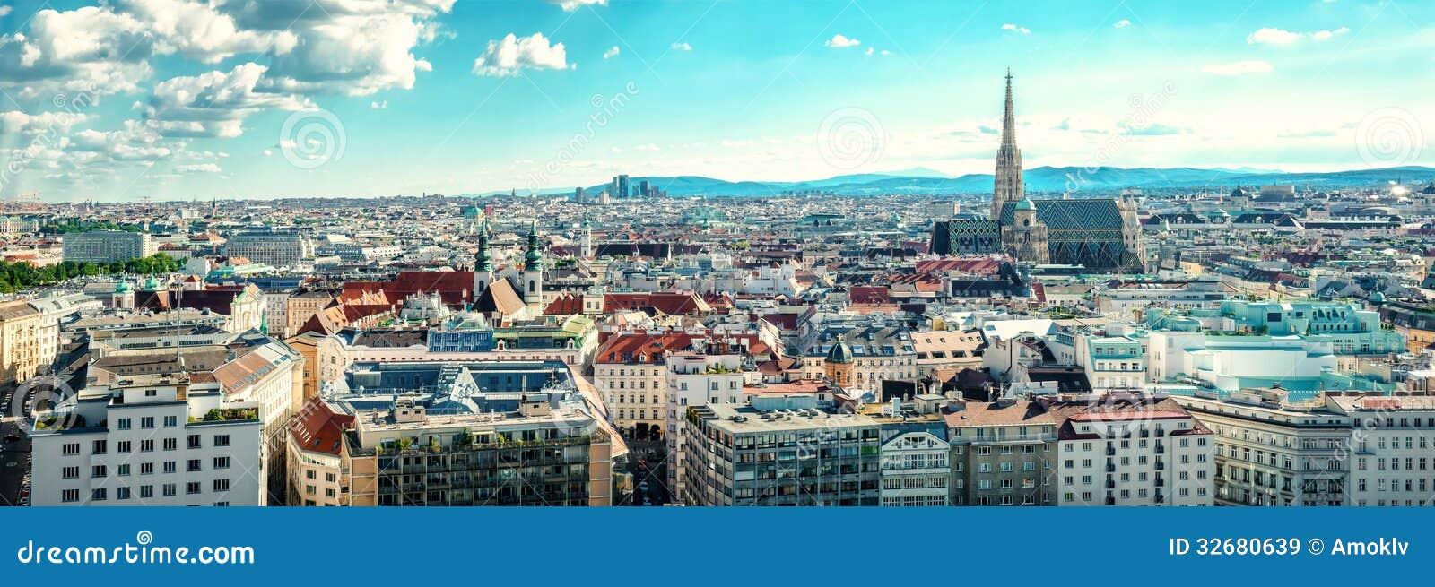 Vista panoramica della città di Vienna