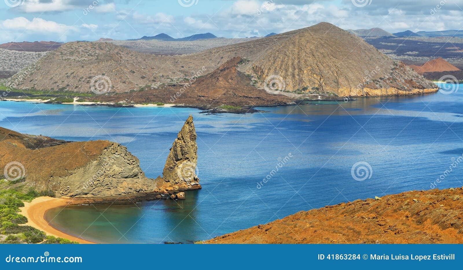 Vista panoramica della roccia e dei dintorni del culmine in Bartolome