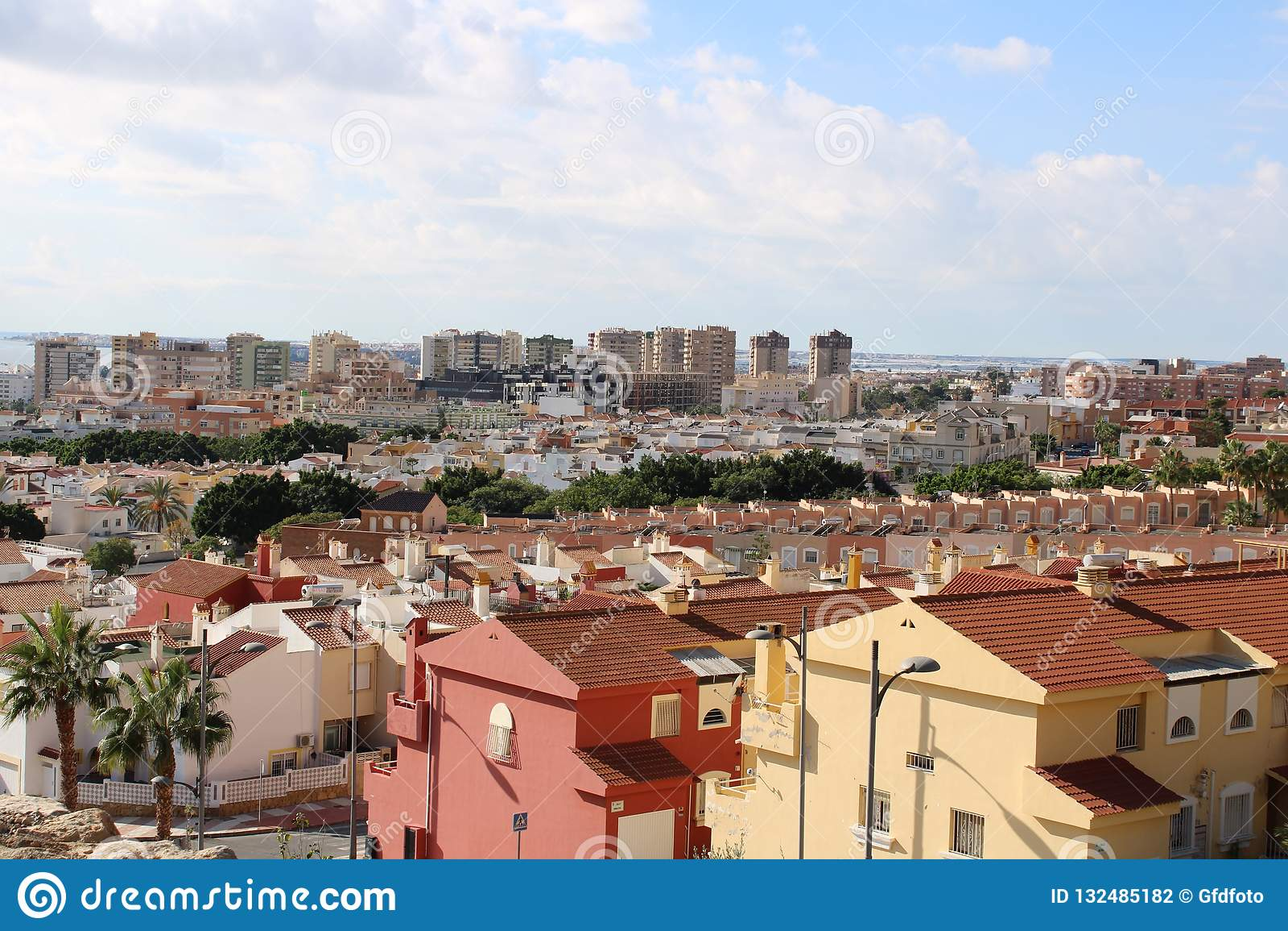 Vista panoramica delle case e dei blocchi