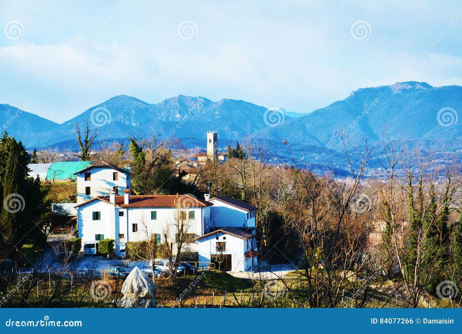 Vista Panoramica Di Conegliano Veneto Da Castello ...