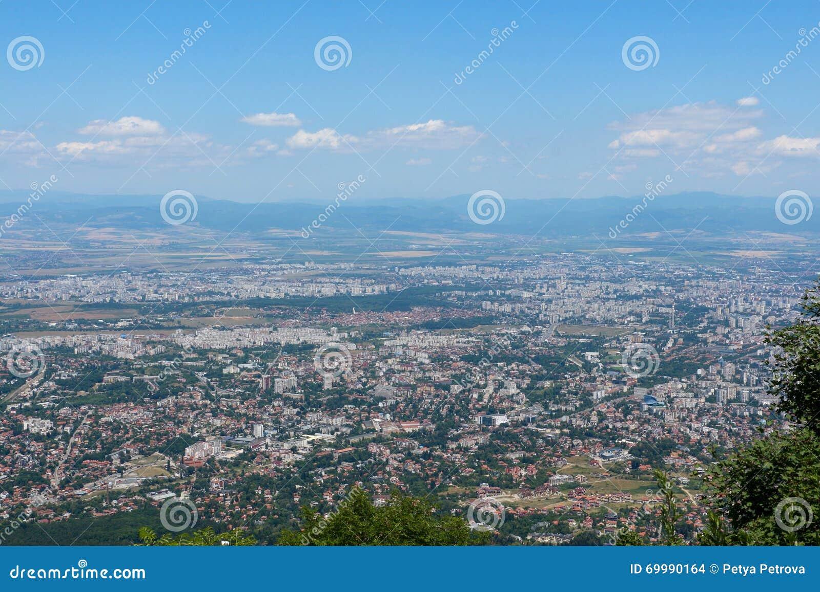 Vista Panoramica Di Sofia Bulgaria Fotografia Stock Immagine Di