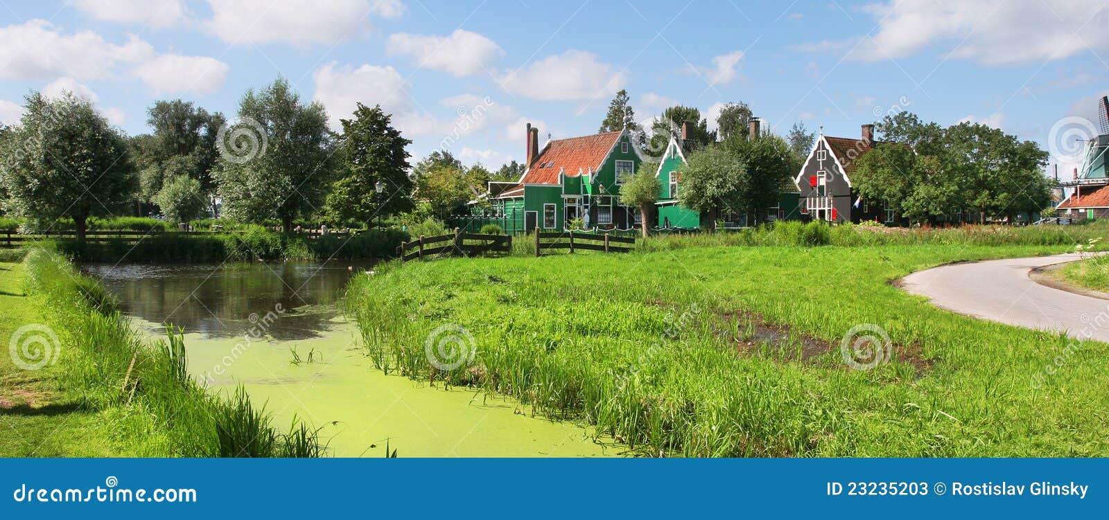 Vista panoramica sul villaggio olandese.