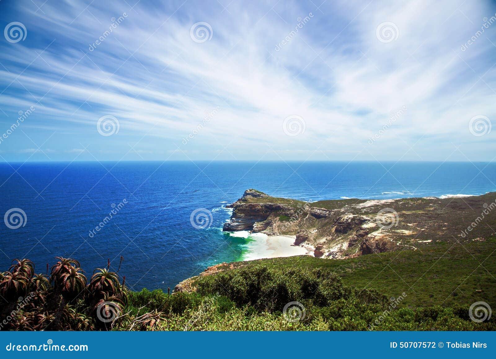 Vista para Cape Town do ponto do cabo, Afri sul