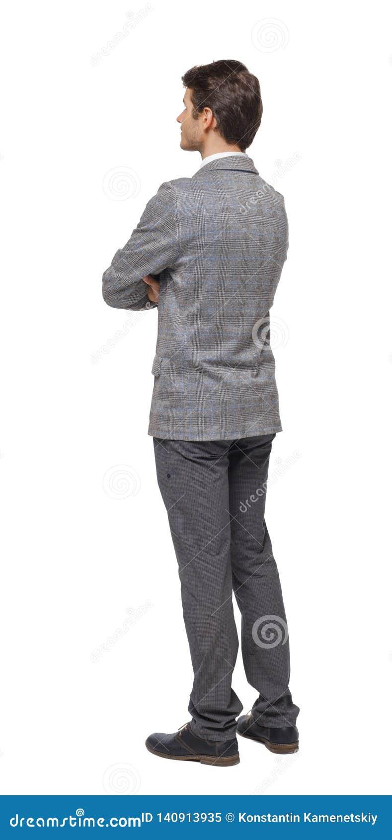Vista posteriore degli sguardi dell uomo di affari