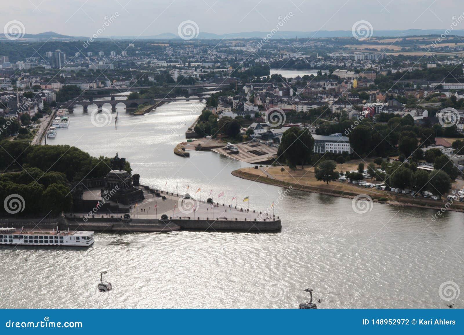 Vista a?rea de Koblenz