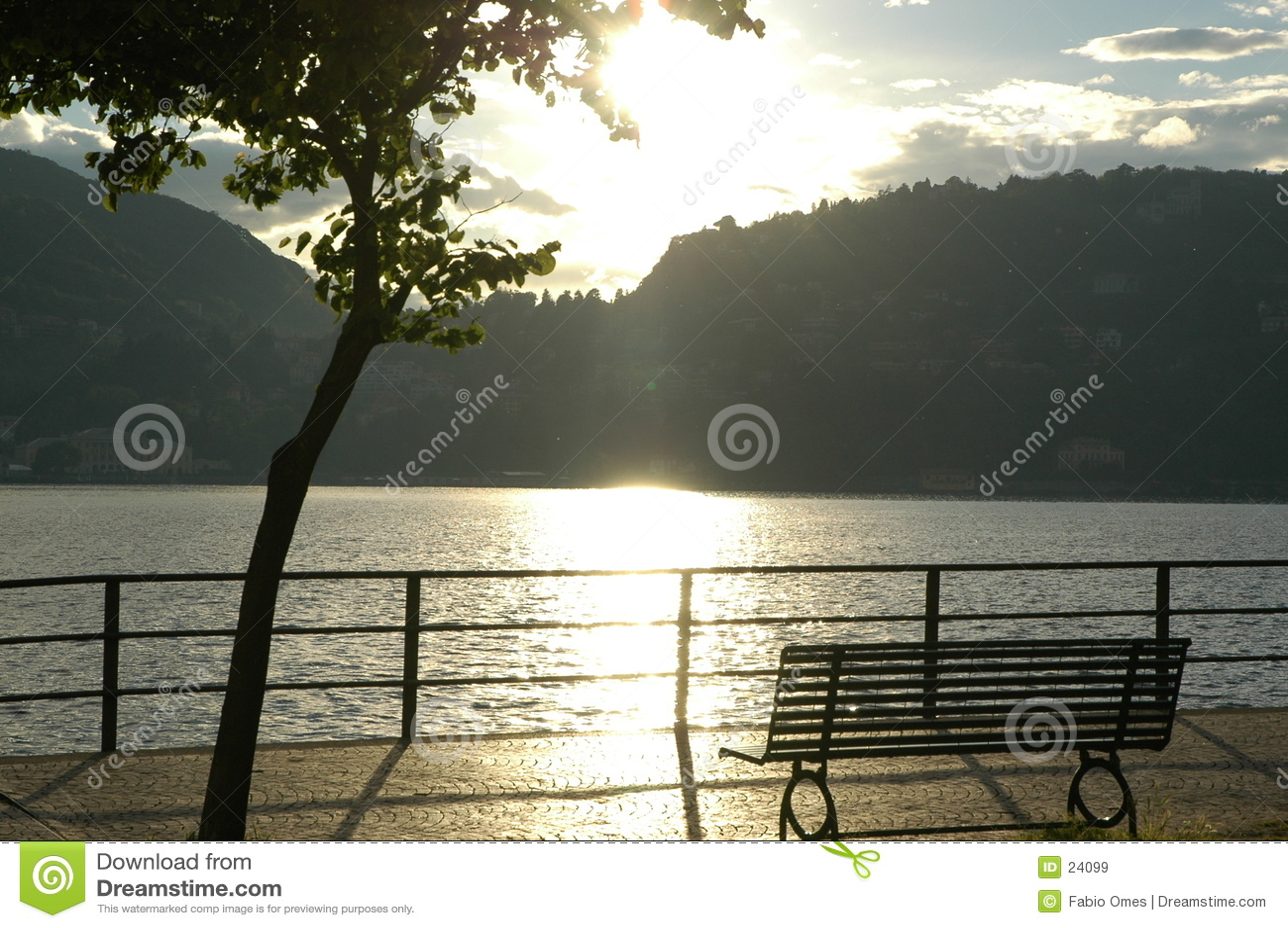Vista romantica nel lago Como.