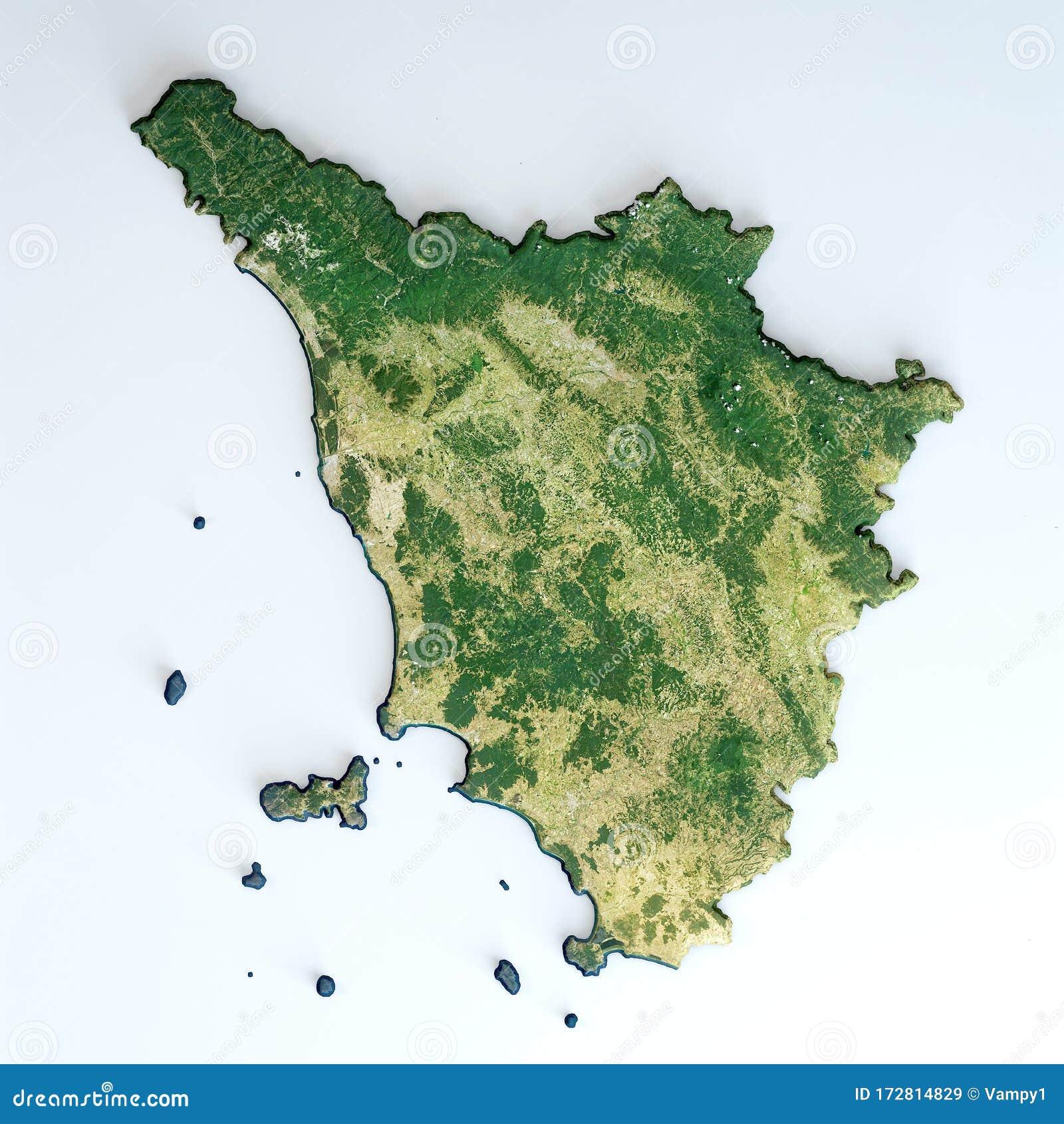 Toscana Fisica Cartina.Vista Satellitare Della Regione Toscana Italia Illustrazione Di Stock Illustrazione Di Sfondo Fisico 172814829