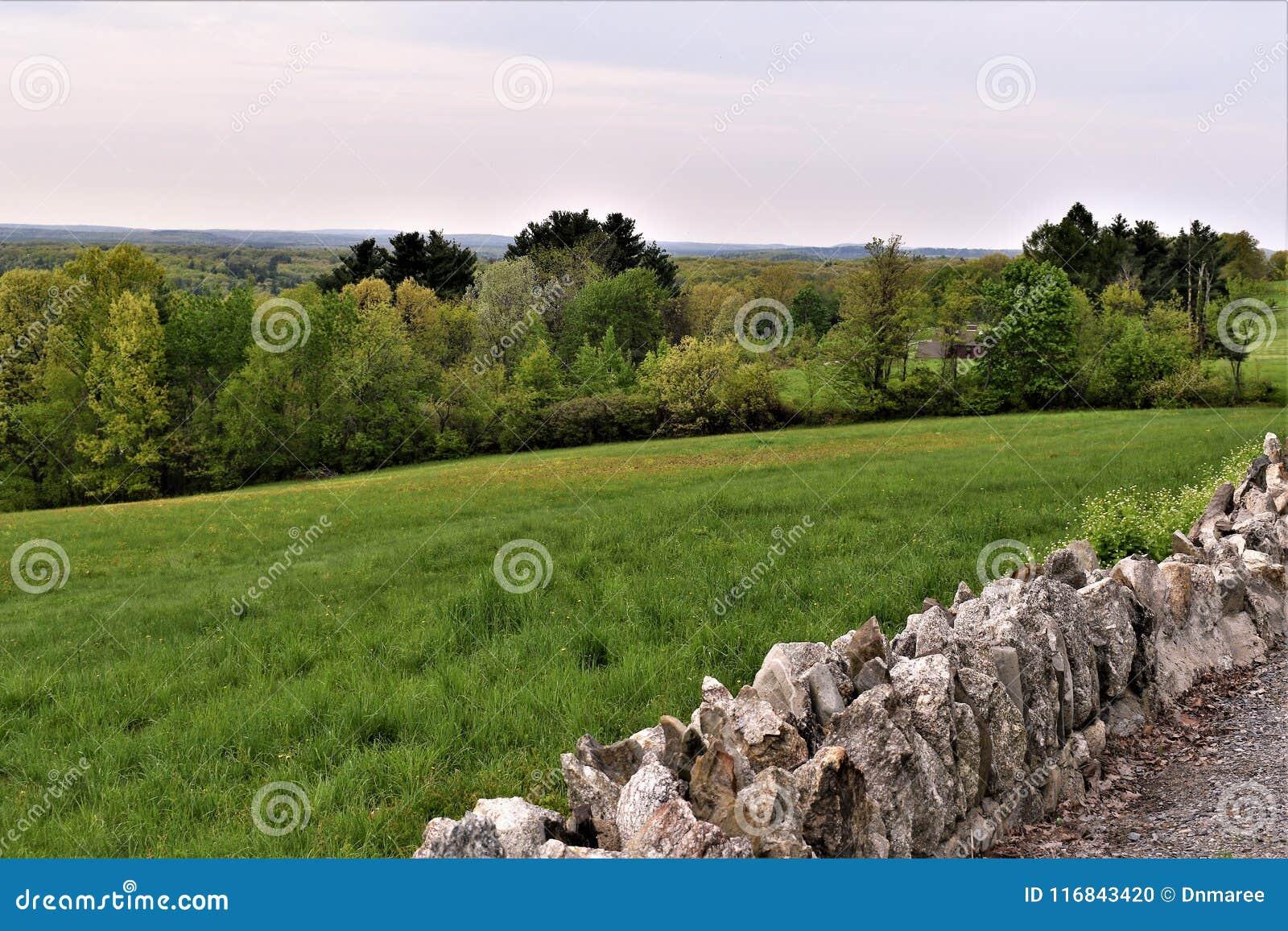 Vista scenica del rifugio nazionale di Oxbow Wildlfe preso da Harvard, Massachusetts, Stati Uniti