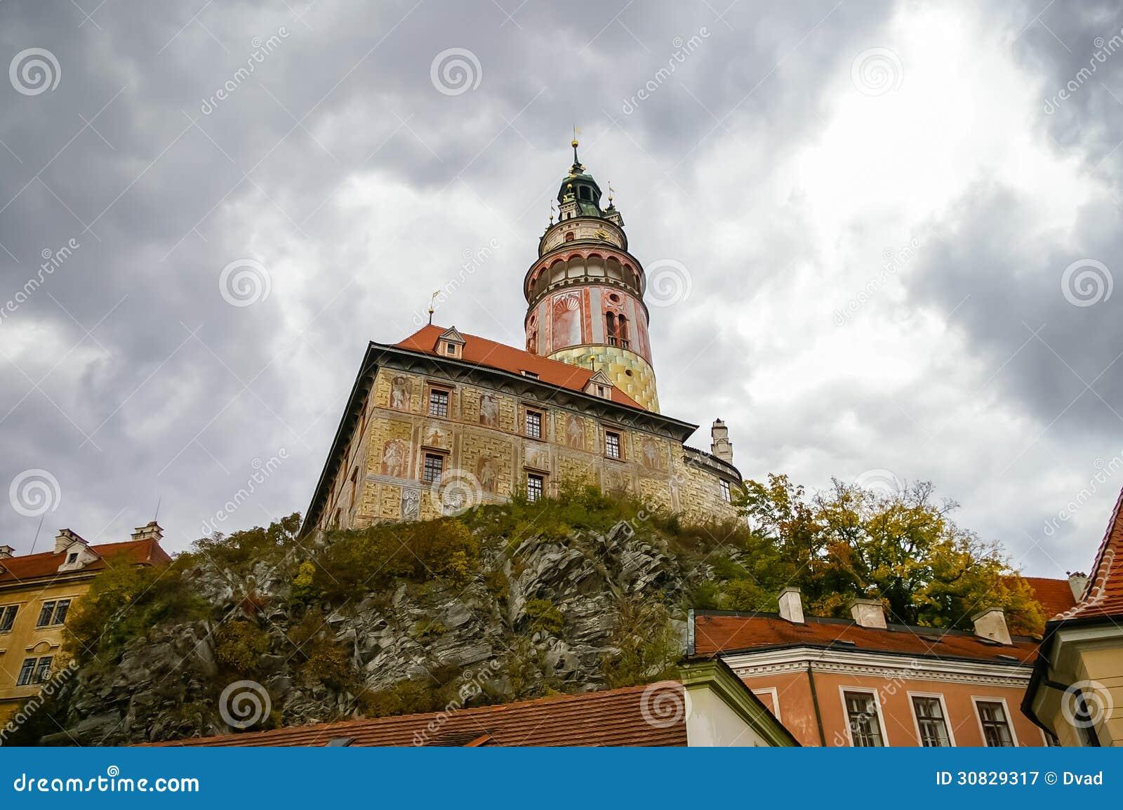 Vista sul castello in Cesky Krumlov