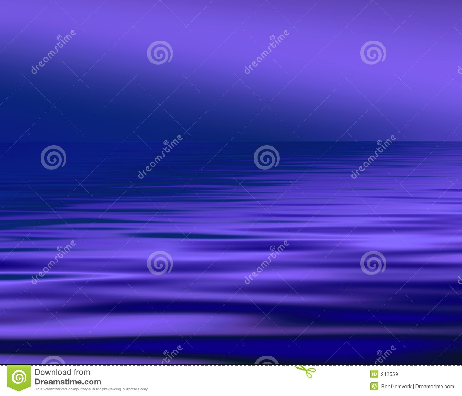 Vista sul mare blu