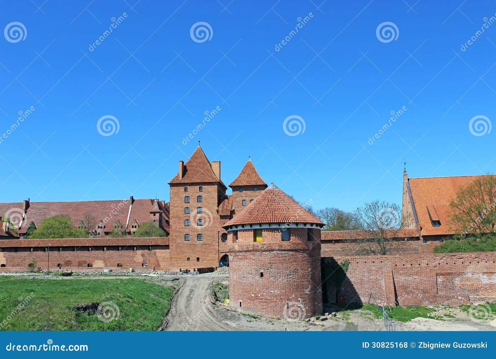 Vista sul vecchio castello tedesco in Malbork.