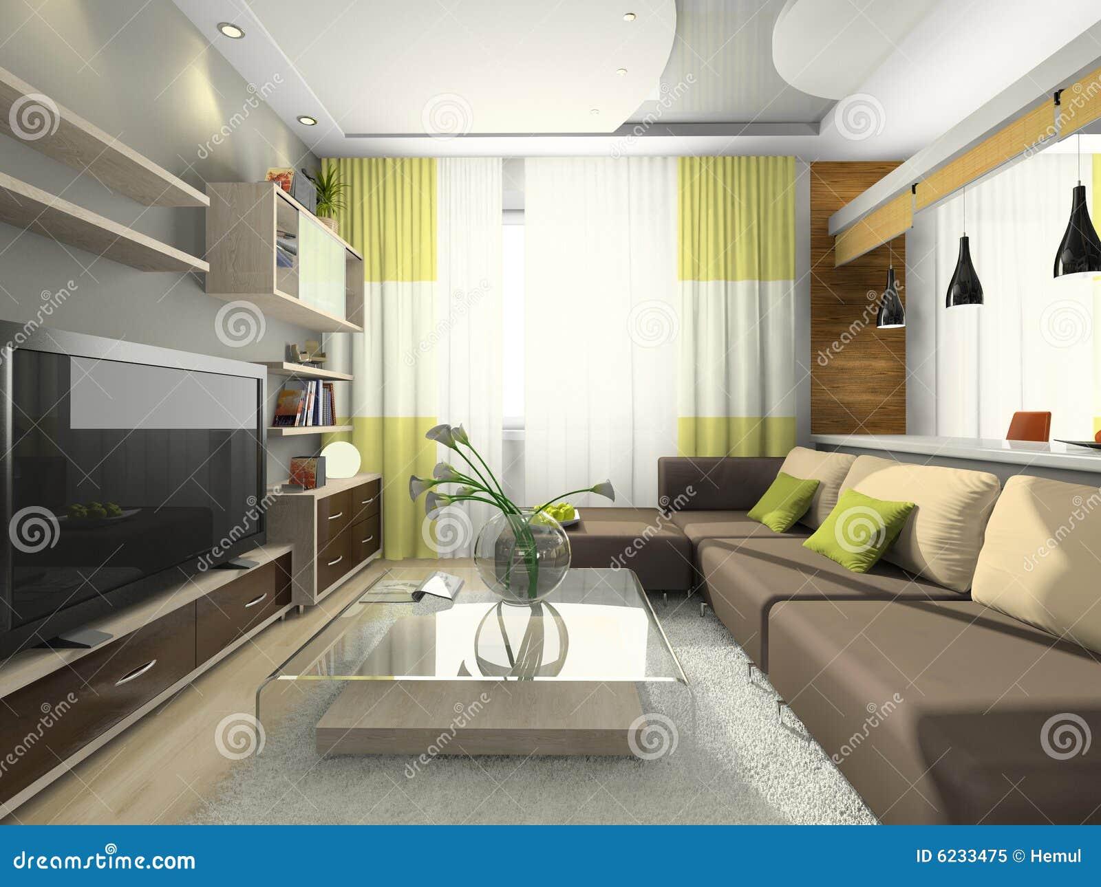 Vista sull 39 appartamento moderno fotografia stock libera da for Appartamento moderno