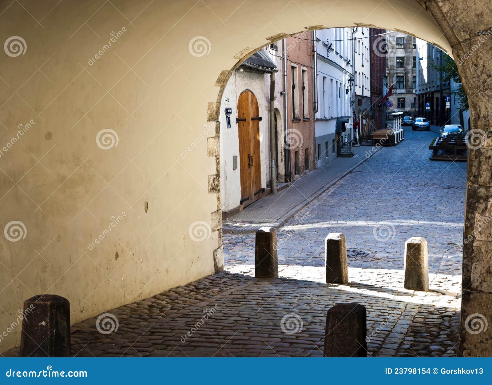 Vista sulla vecchia città di Riga, Latvia, Europa