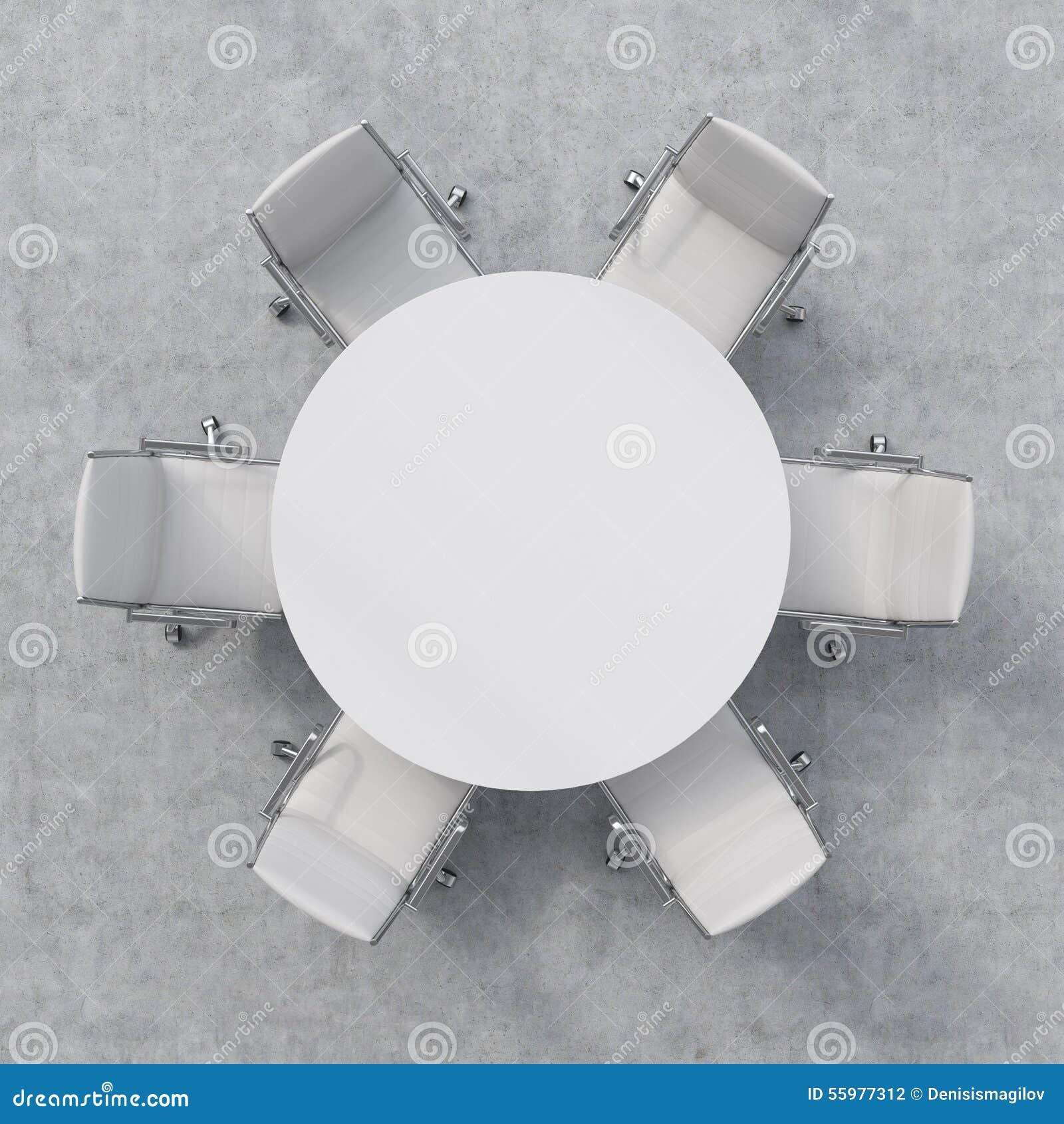 Vista Superior De Una Sala Conferencias Mesa