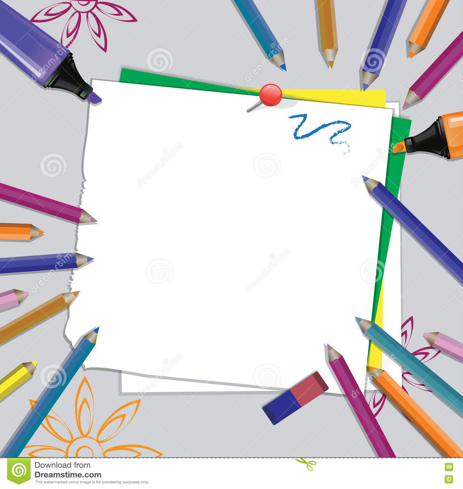 Vista superiore degli elementi del posto di lavoro dietro lo scrittorio grigio