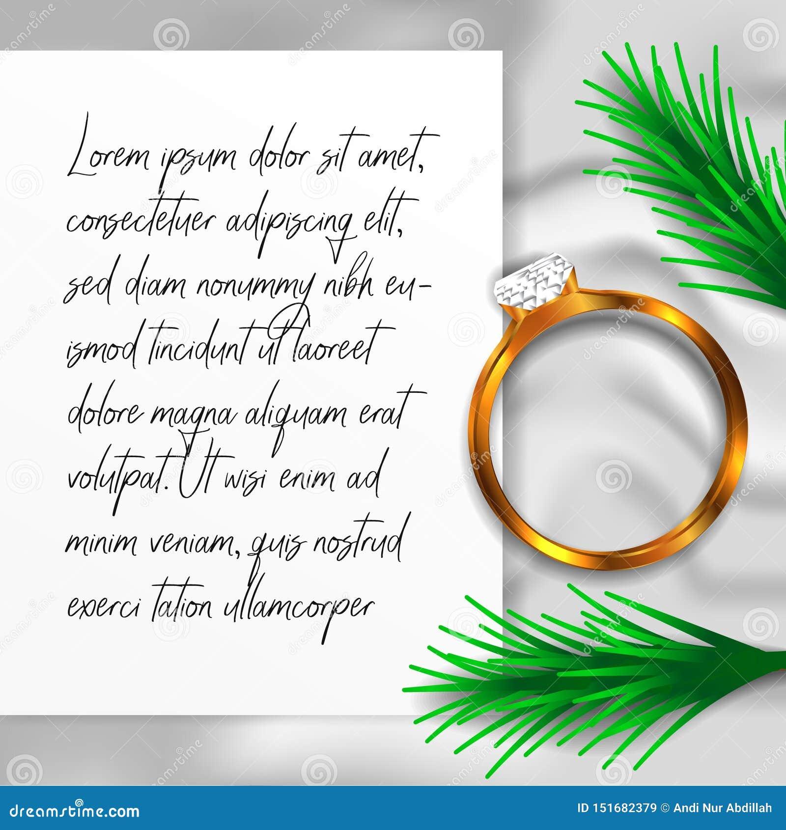 Vista superiore del diamante del gioiello di nozze di impegno dell anello con la coperta e la carta bianche di struttura